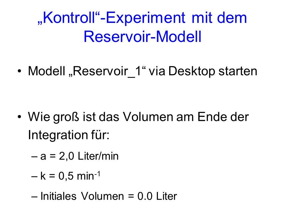 """Kontroll -Experiment mit dem Reservoir-Modell"
