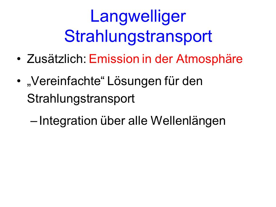 Langwelliger Strahlungstransport