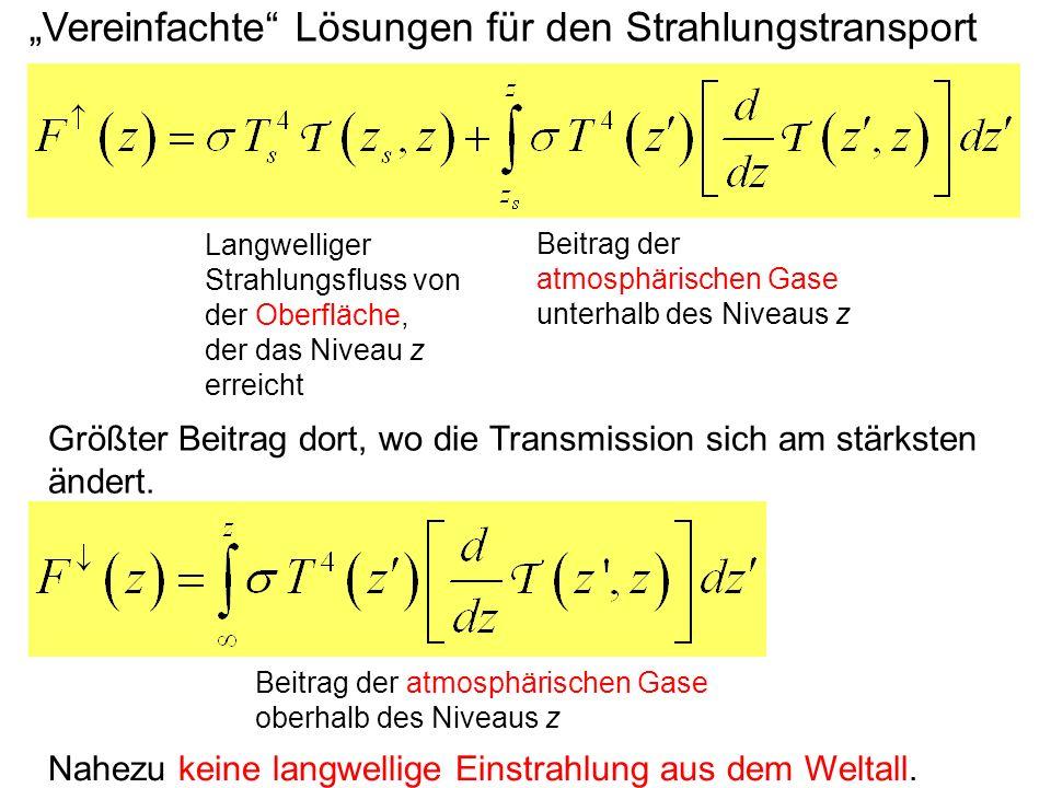 """""""Vereinfachte Lösungen für den Strahlungstransport"""