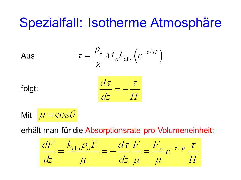 Spezialfall: Isotherme Atmosphäre