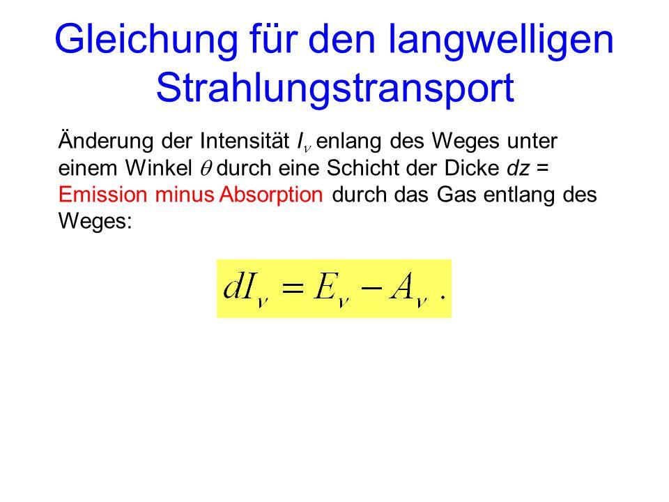 Gleichung für den langwelligen Strahlungstransport