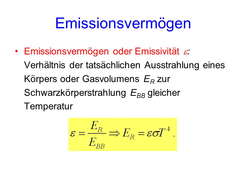Emissionsvermögen