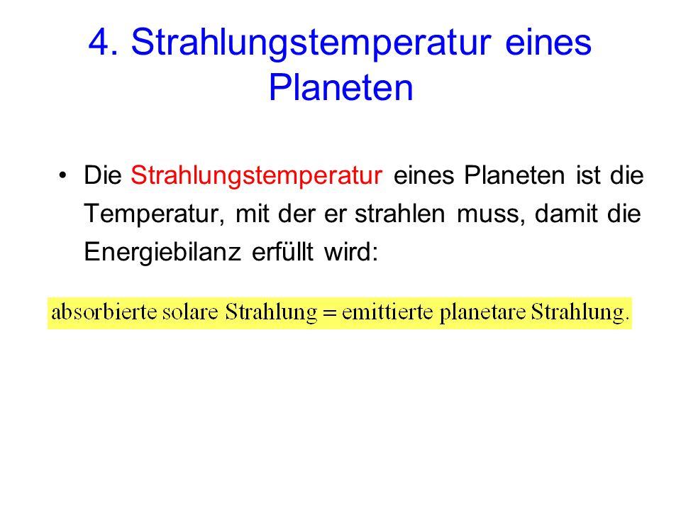 4. Strahlungstemperatur eines Planeten