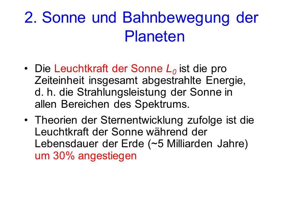 2. Sonne und Bahnbewegung der Planeten