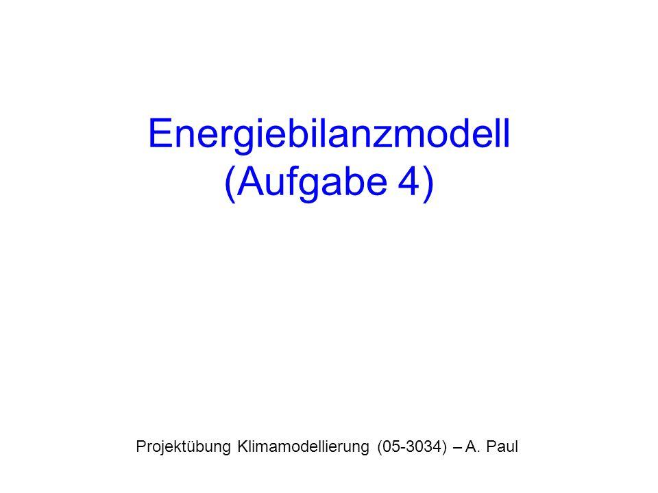 Energiebilanzmodell (Aufgabe 4)