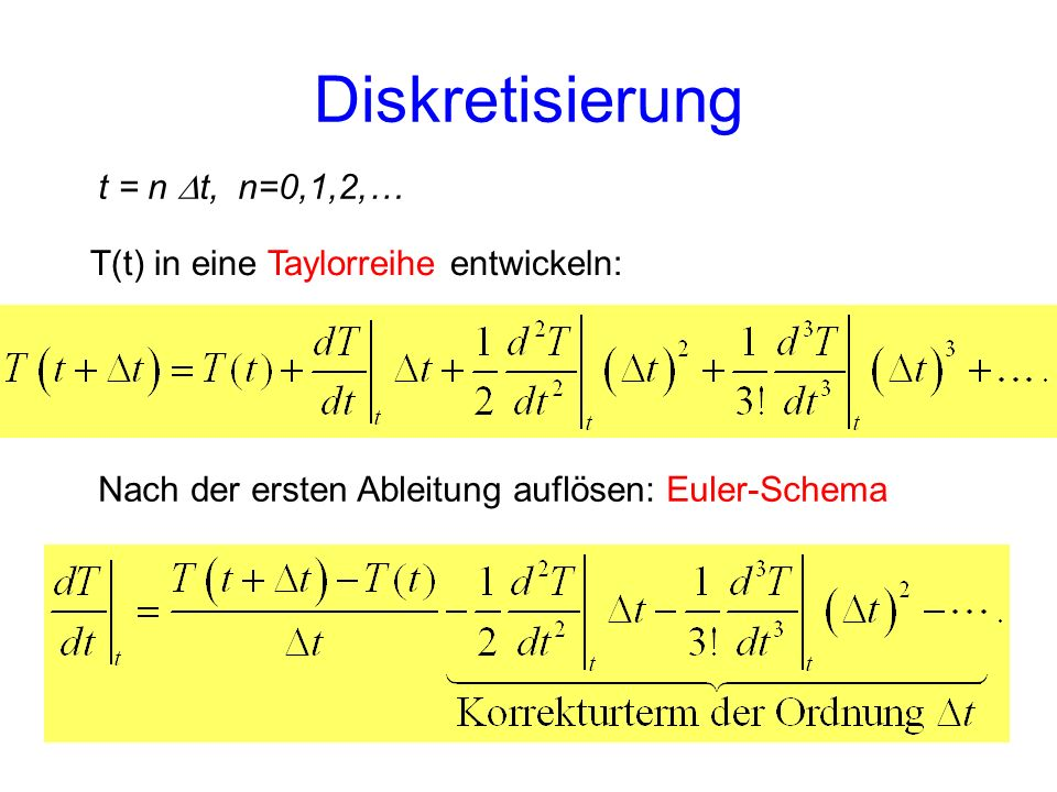 Diskretisierung t = n Dt, n=0,1,2,…