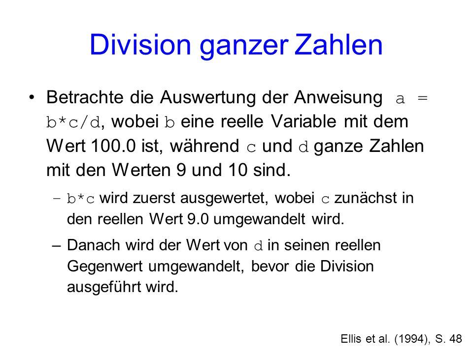 Division ganzer Zahlen