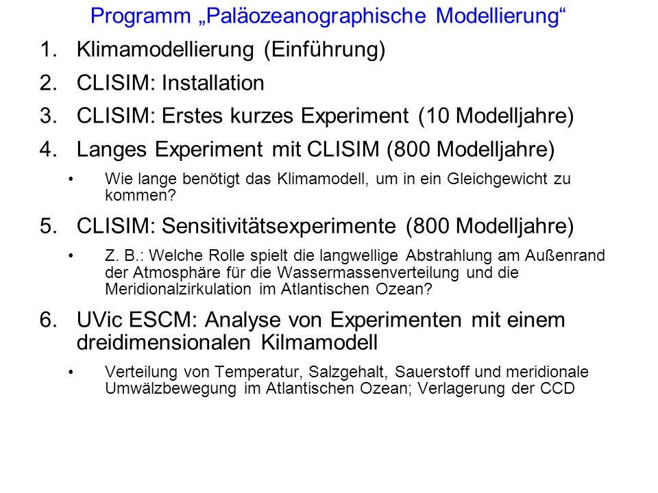 """Programm """"Paläozeanographische Modellierung"""