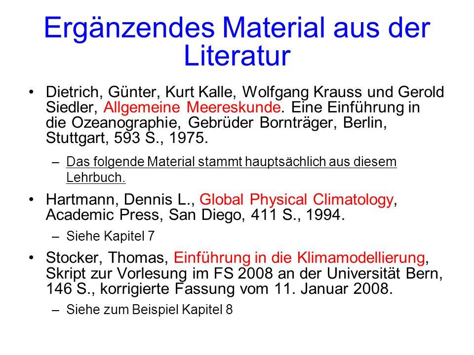 Ergänzendes Material aus der Literatur