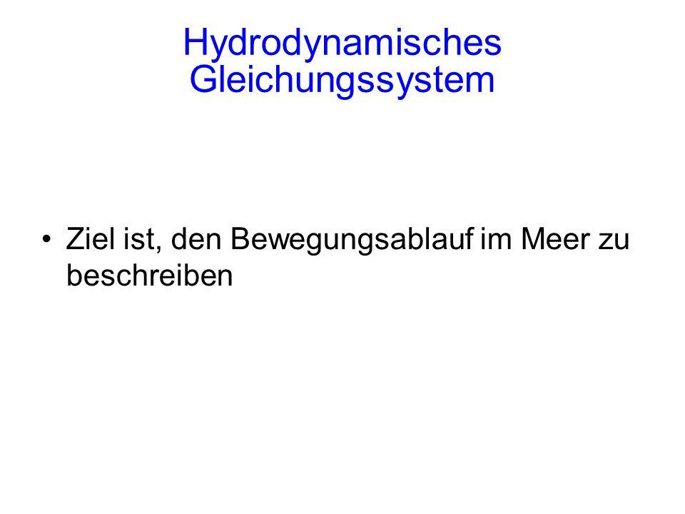 Hydrodynamisches Gleichungssystem