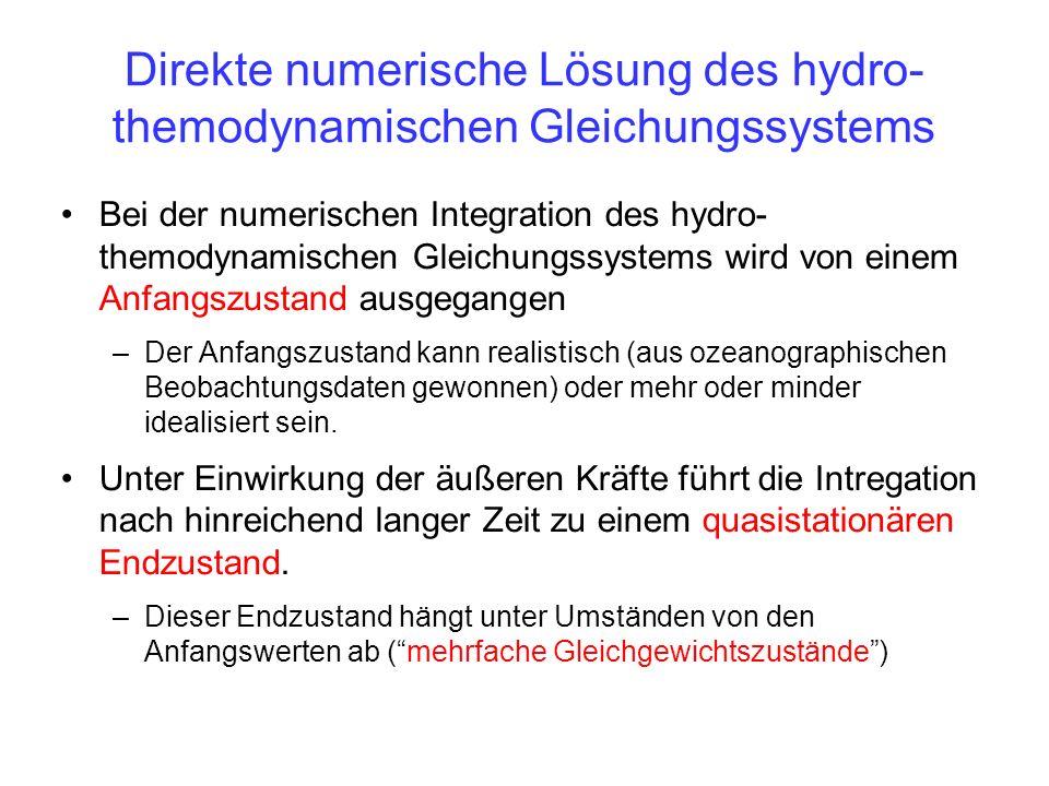 Direkte numerische Lösung des hydro-themodynamischen Gleichungssystems
