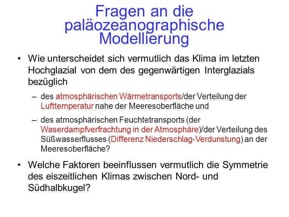 Fragen an die paläozeanographische Modellierung