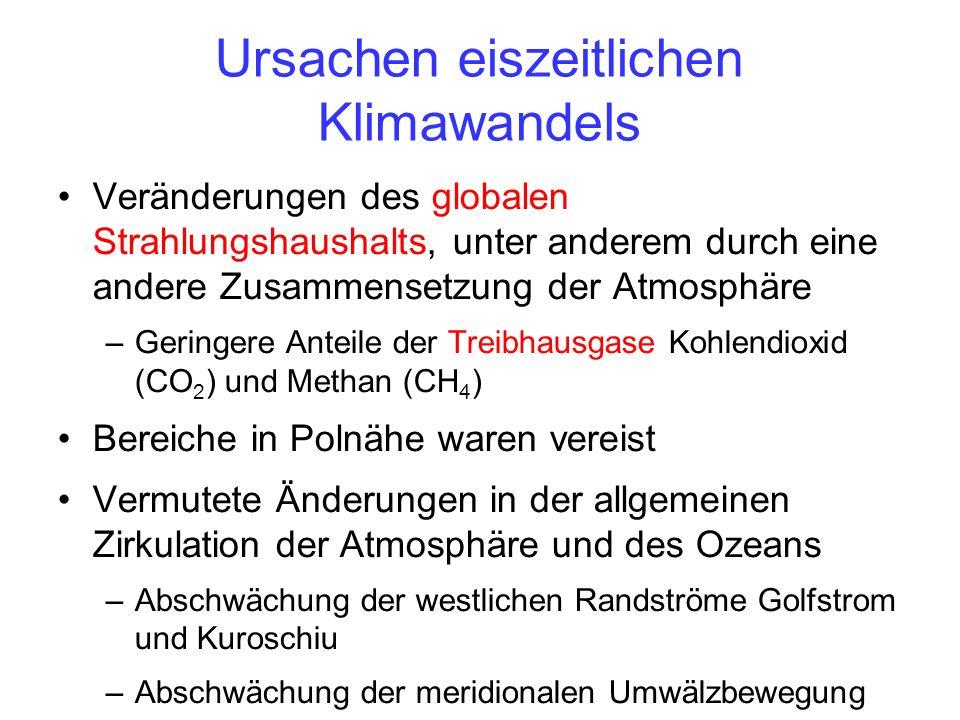 Ursachen eiszeitlichen Klimawandels