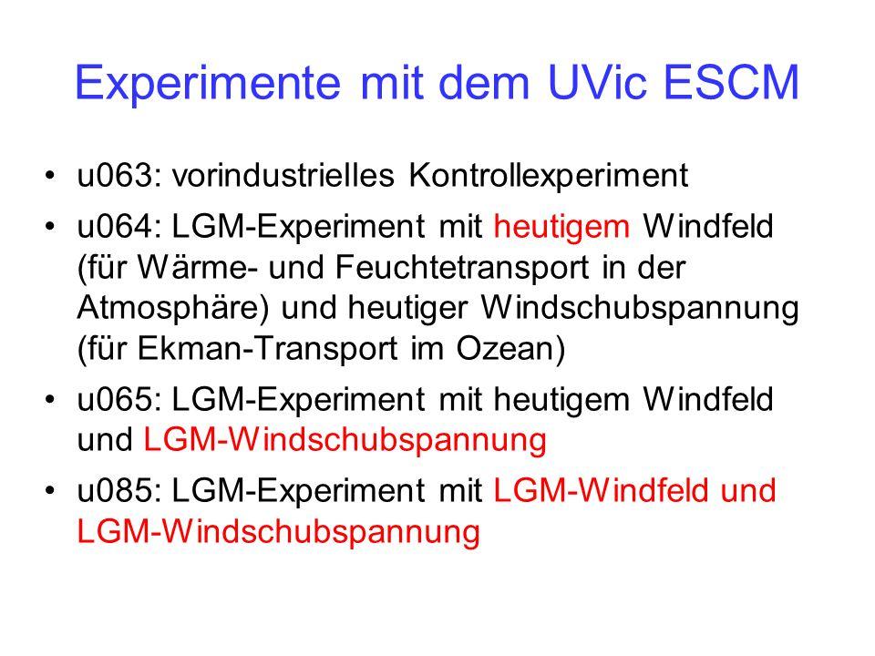 Experimente mit dem UVic ESCM