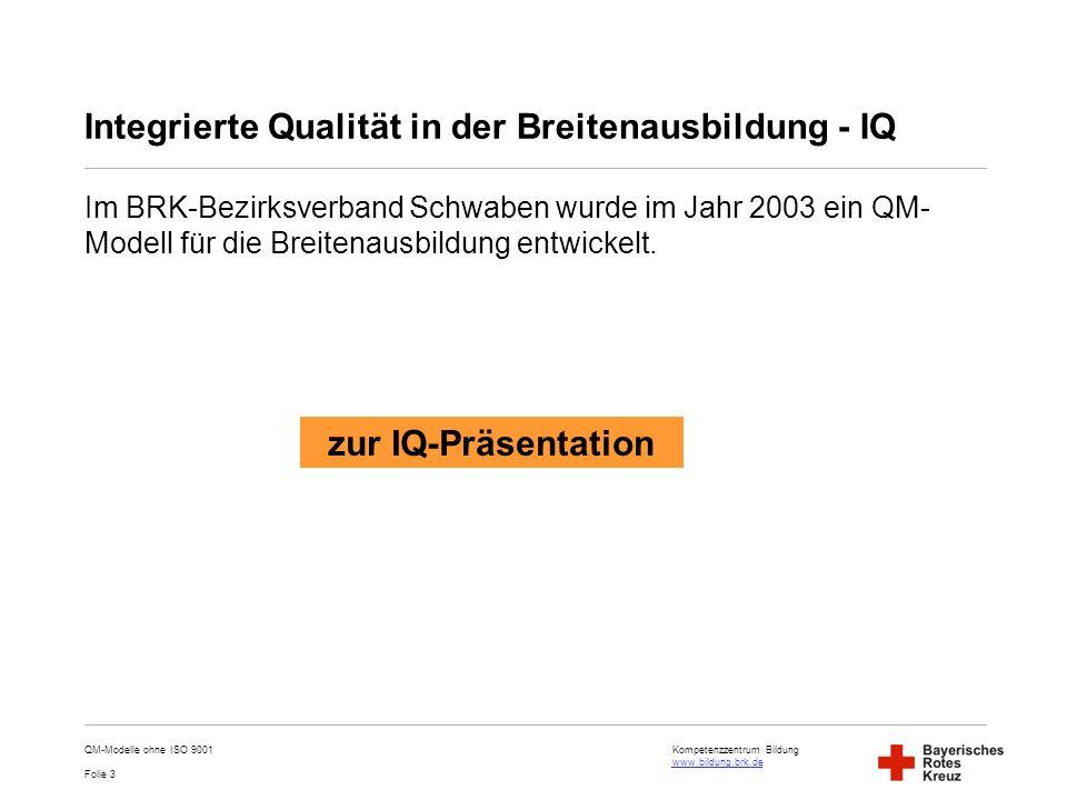 Integrierte Qualität in der Breitenausbildung - IQ