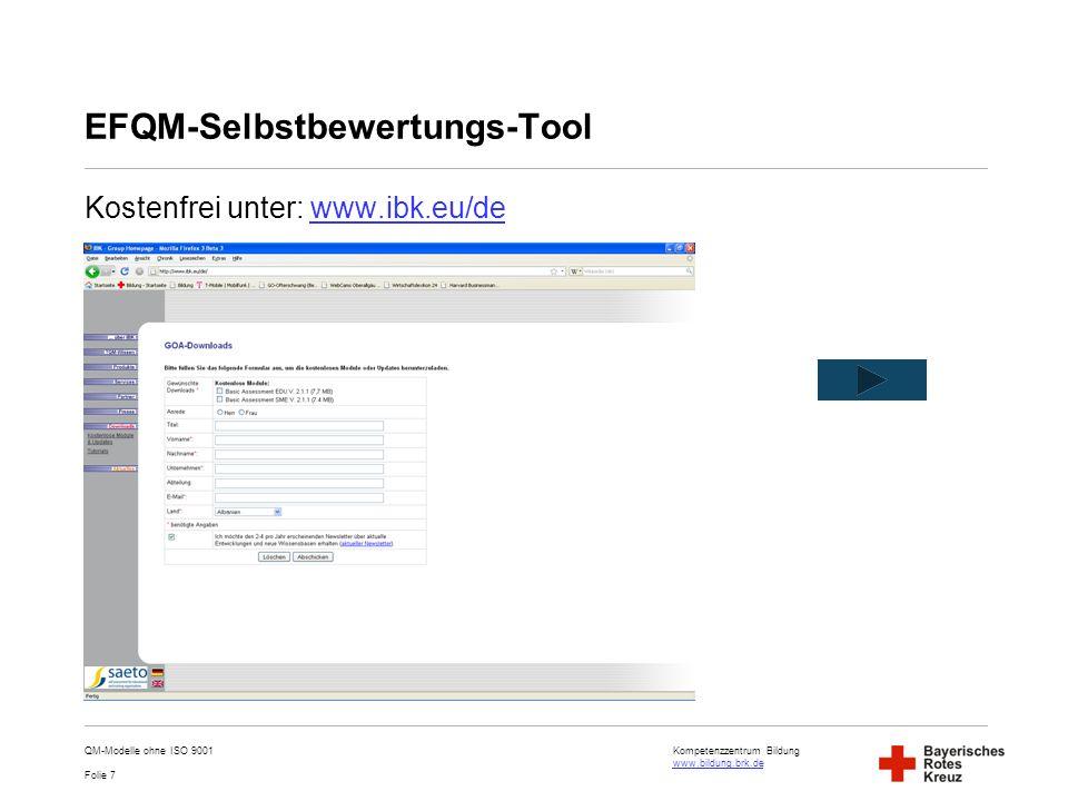 EFQM-Selbstbewertungs-Tool
