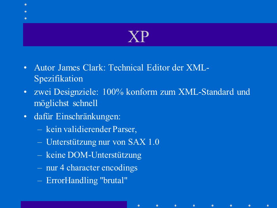 XP Autor James Clark: Technical Editor der XML-Spezifikation