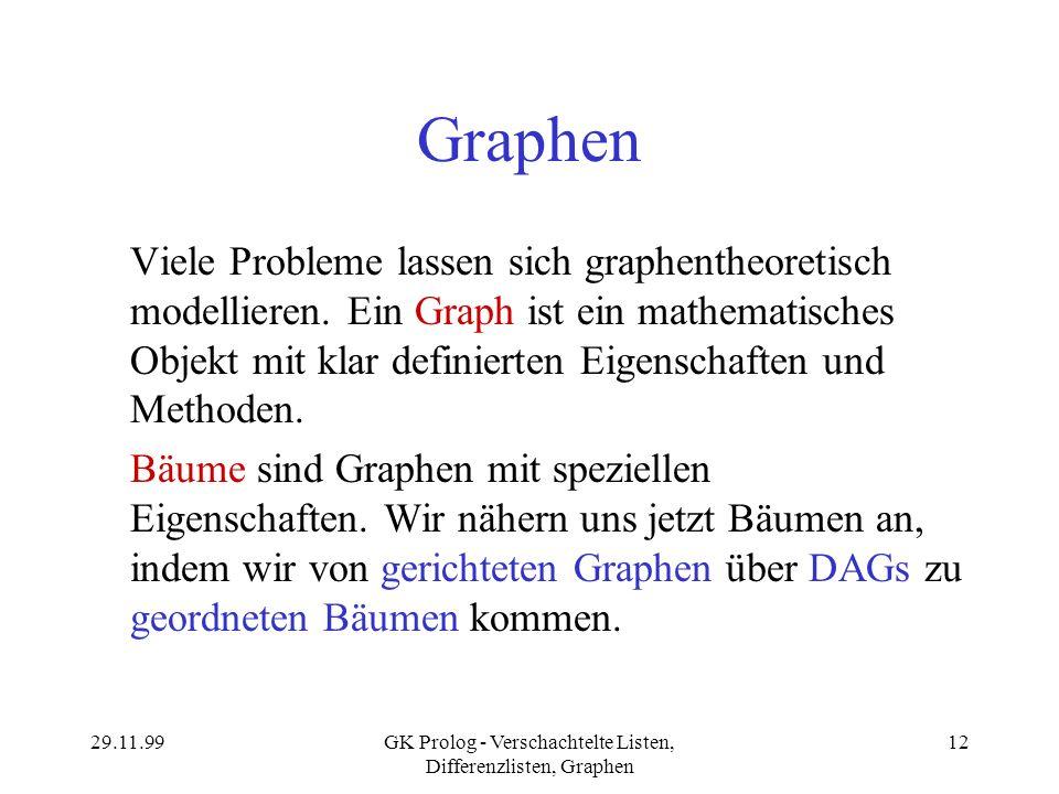 GK Prolog - Verschachtelte Listen, Differenzlisten, Graphen