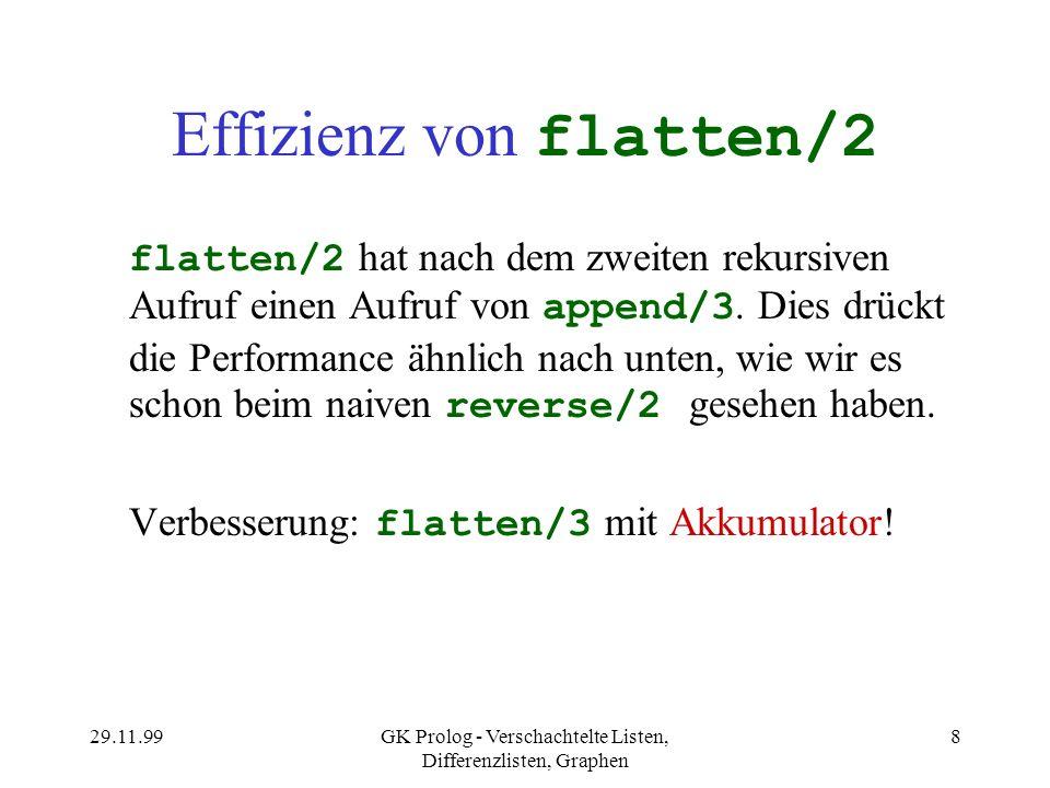 Effizienz von flatten/2