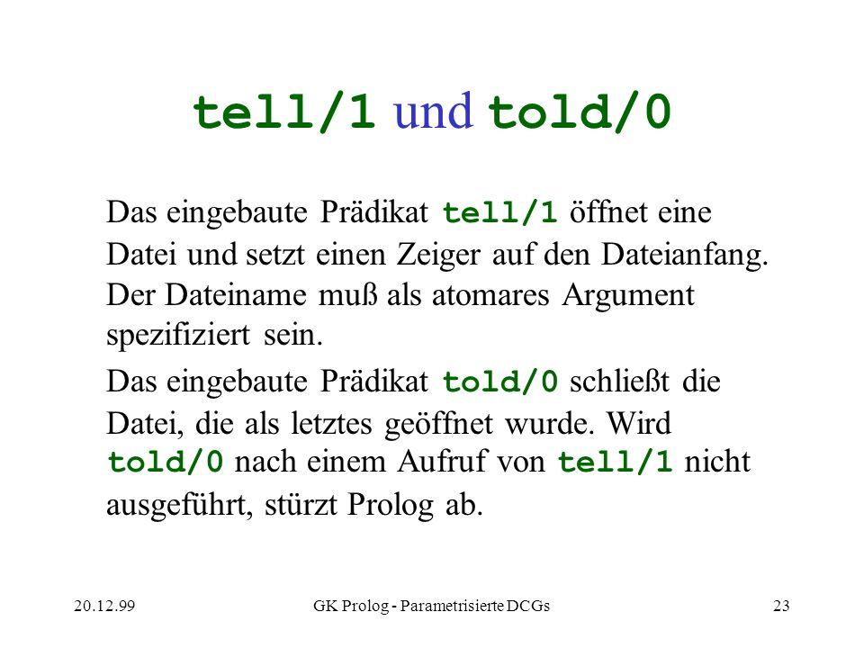 GK Prolog - Parametrisierte DCGs
