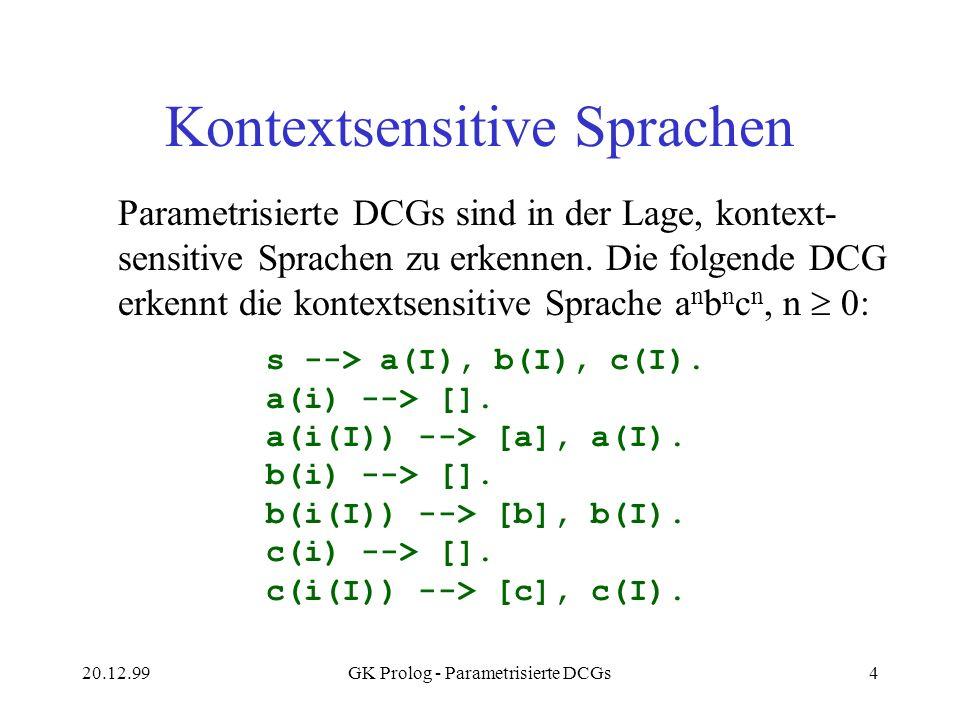Kontextsensitive Sprachen