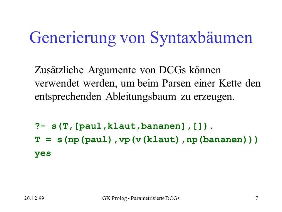 Generierung von Syntaxbäumen