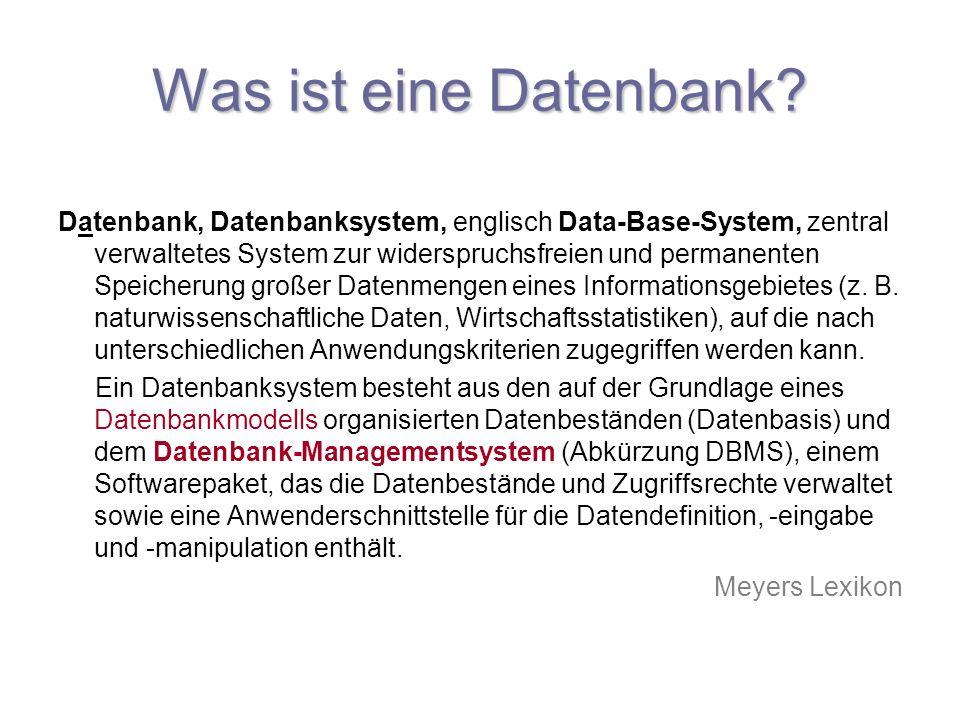 Was ist eine Datenbank
