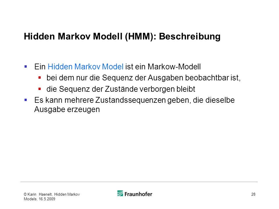 Hidden Markov Modell (HMM): Beschreibung