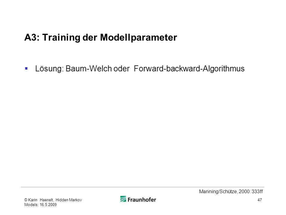 A3: Training der Modellparameter