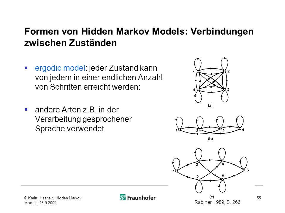 Formen von Hidden Markov Models: Verbindungen zwischen Zuständen
