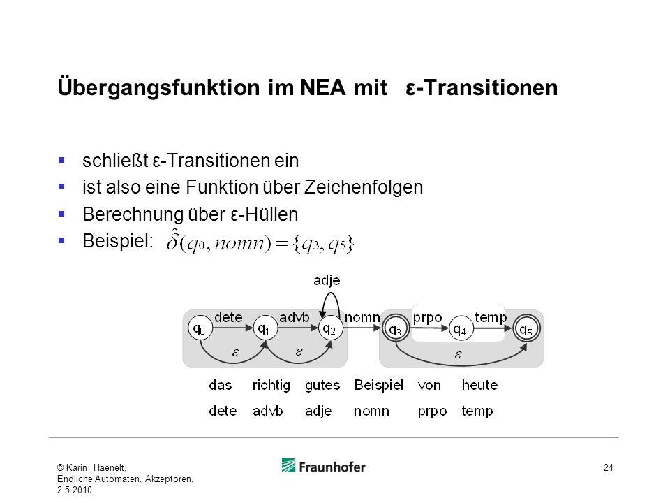 Übergangsfunktion im NEA mit ε-Transitionen