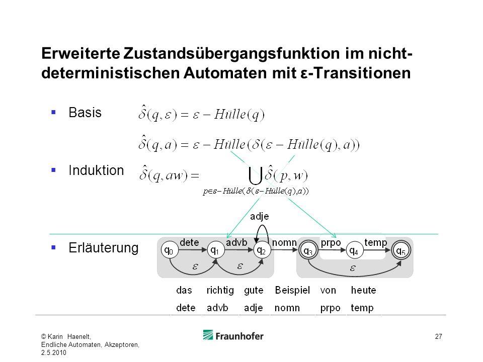 Erweiterte Zustandsübergangsfunktion im nicht-deterministischen Automaten mit ε-Transitionen
