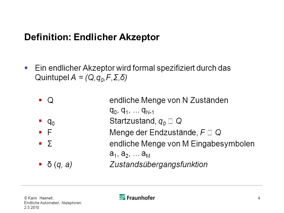 Definition: Endlicher Akzeptor