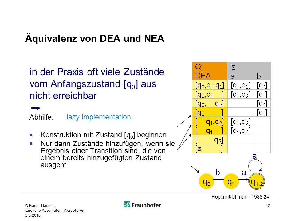 Äquivalenz von DEA und NEA
