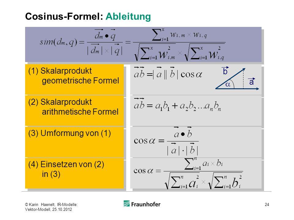 Cosinus-Formel: Ableitung