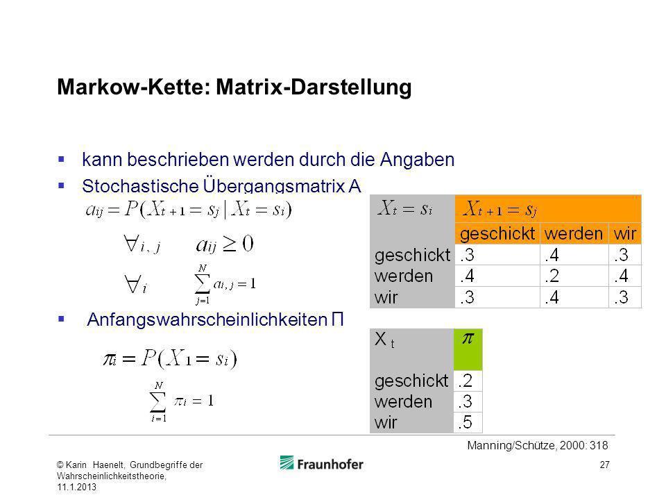 Markow-Kette: Matrix-Darstellung