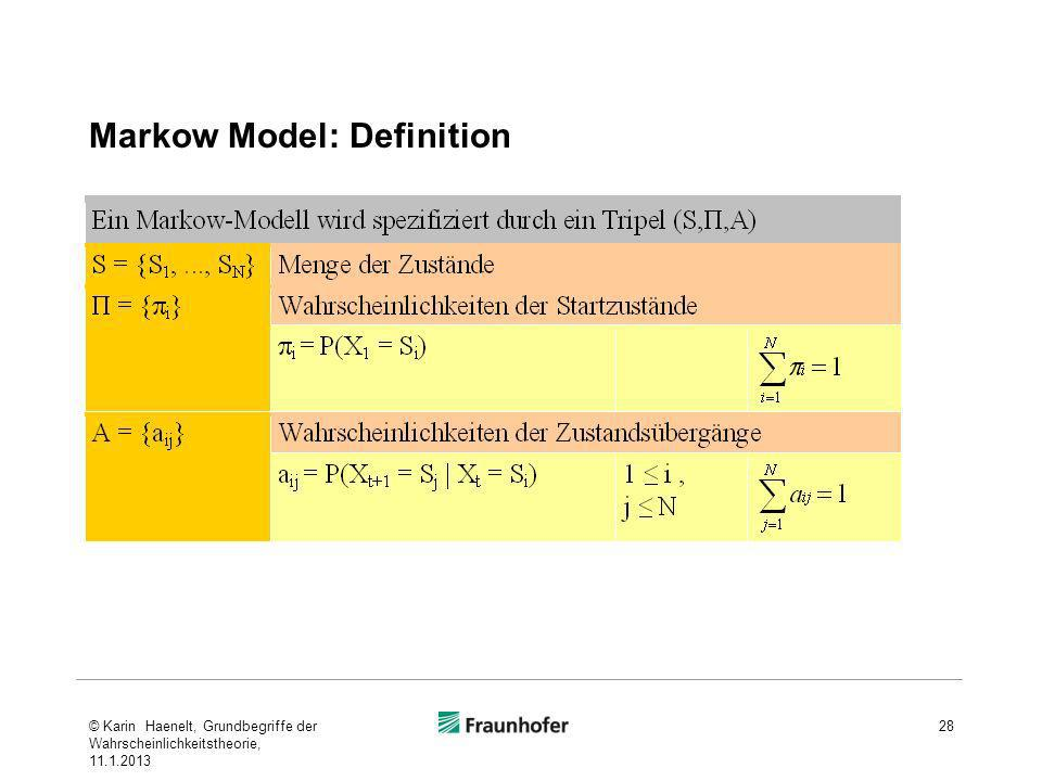 Markow Model: Definition