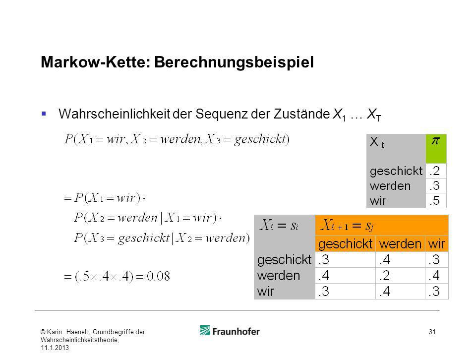 Markow-Kette: Berechnungsbeispiel