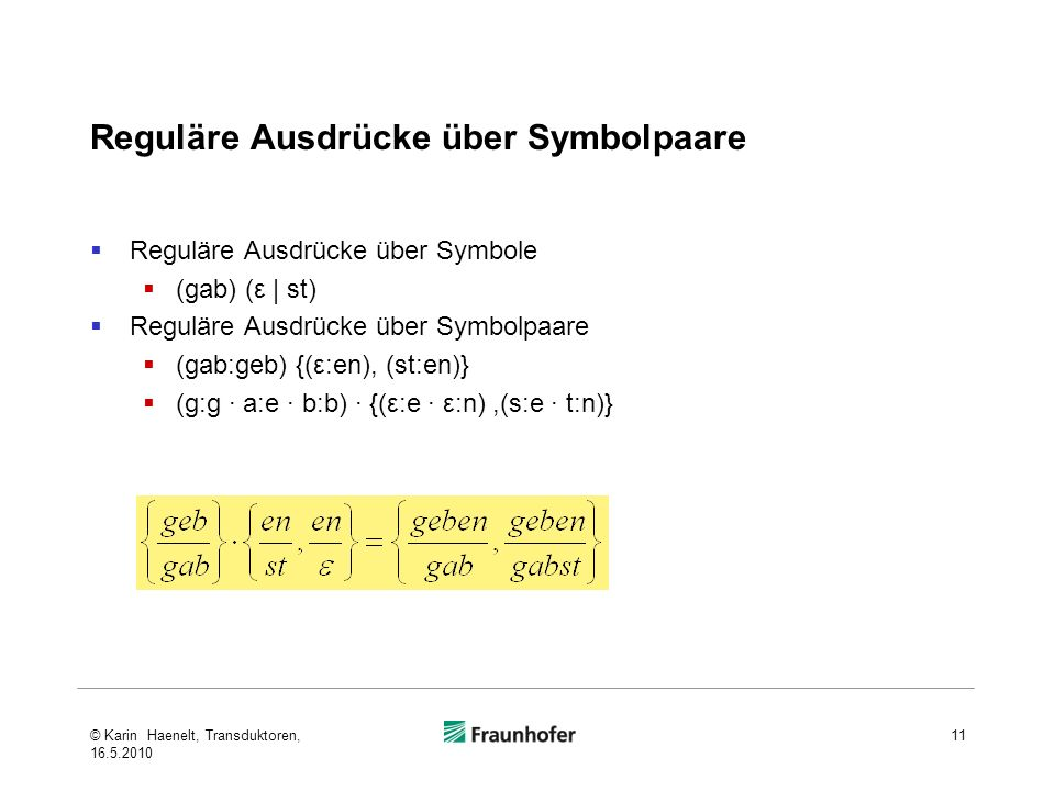 Reguläre Ausdrücke über Symbolpaare