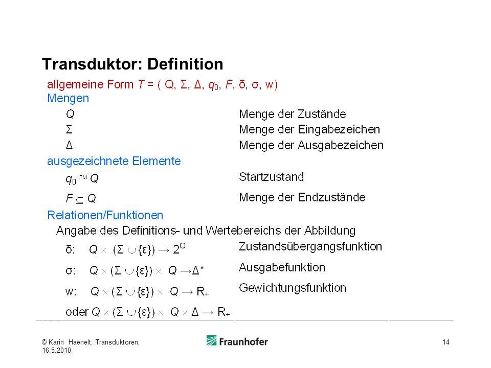 Transduktor: Definition