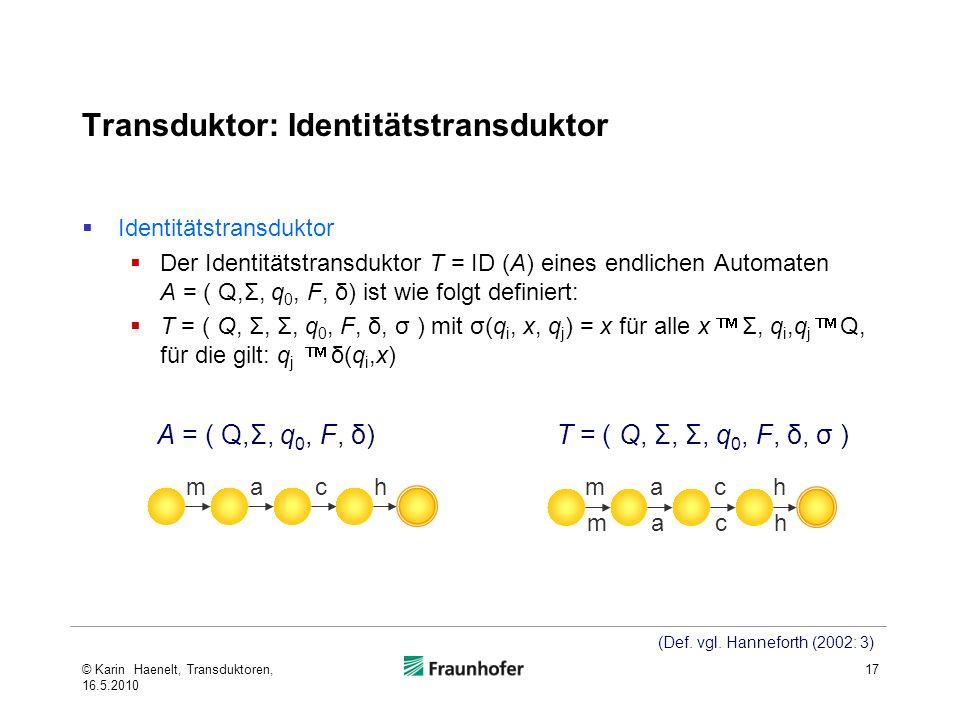 Transduktor: Identitätstransduktor