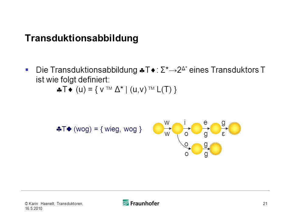 Transduktionsabbildung
