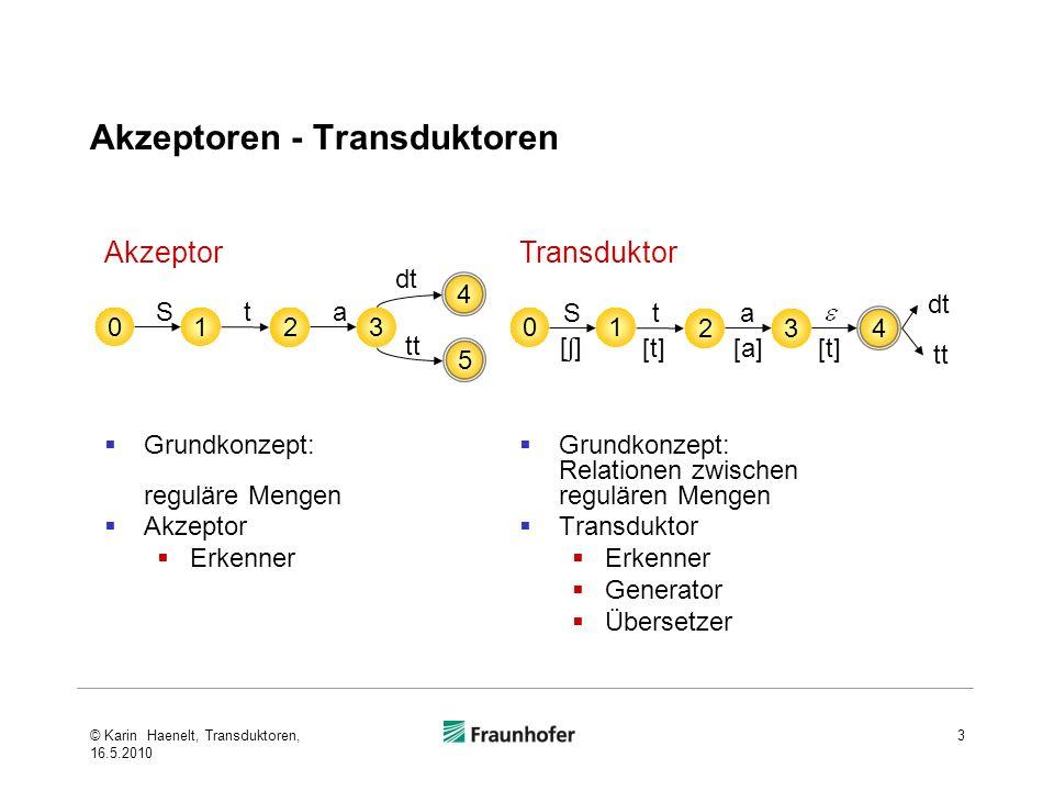 Akzeptoren - Transduktoren