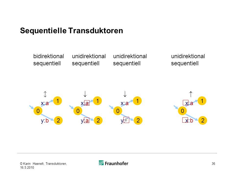 Sequentielle Transduktoren