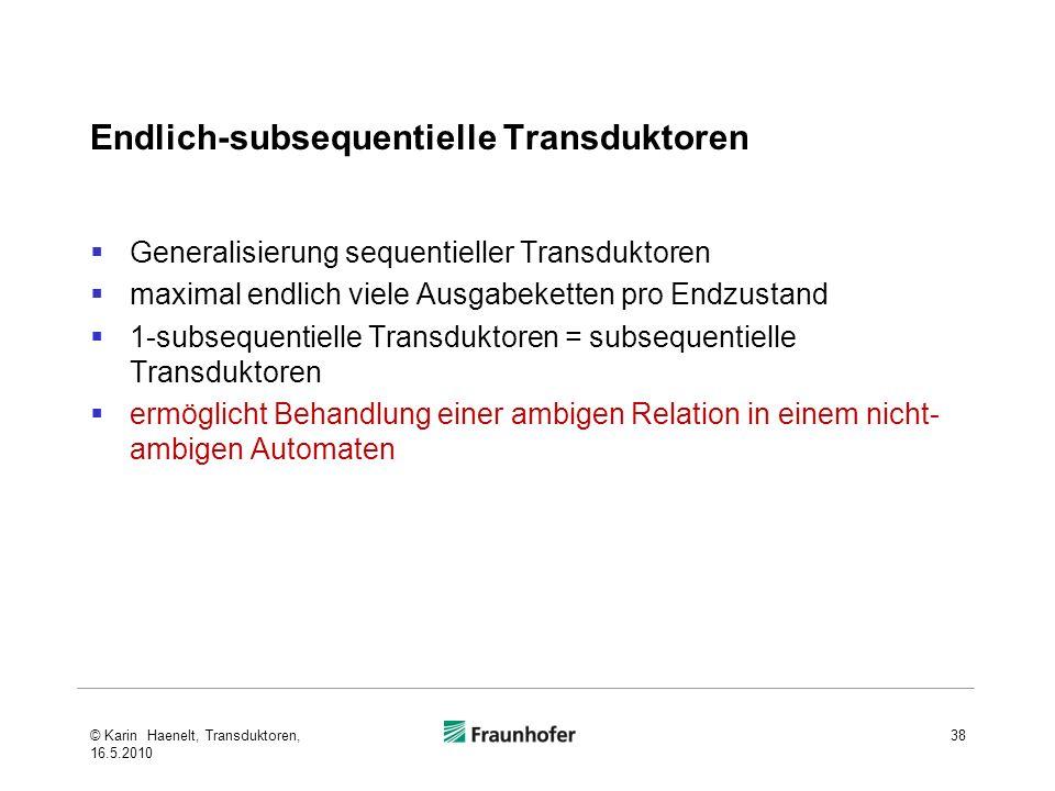 Endlich-subsequentielle Transduktoren