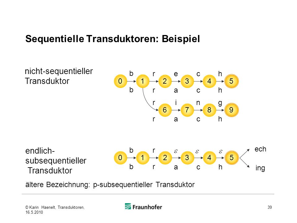 Sequentielle Transduktoren: Beispiel