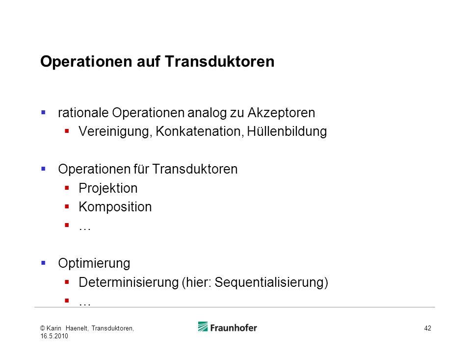 Operationen auf Transduktoren