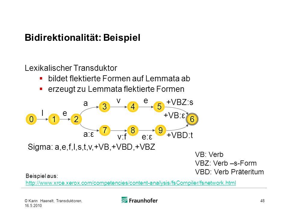 Bidirektionalität: Beispiel
