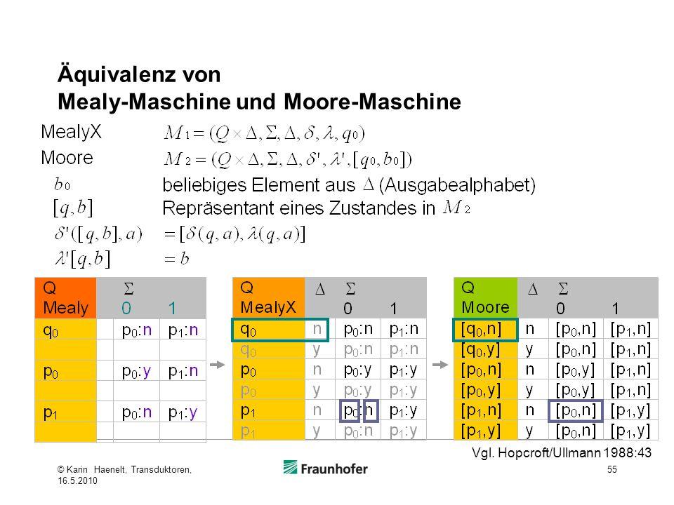 Äquivalenz von Mealy-Maschine und Moore-Maschine