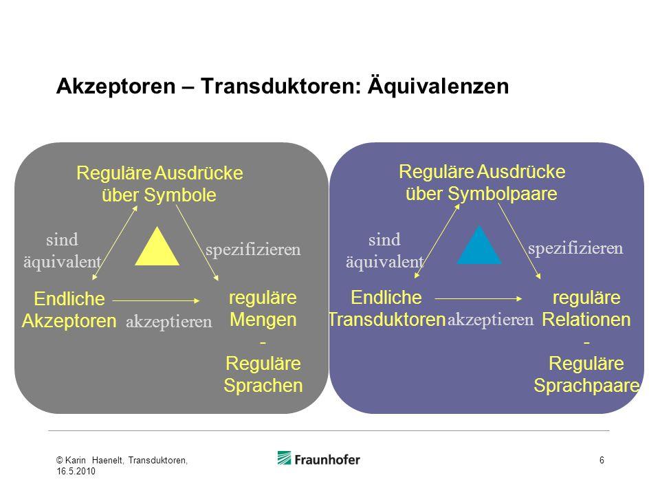 Akzeptoren – Transduktoren: Äquivalenzen